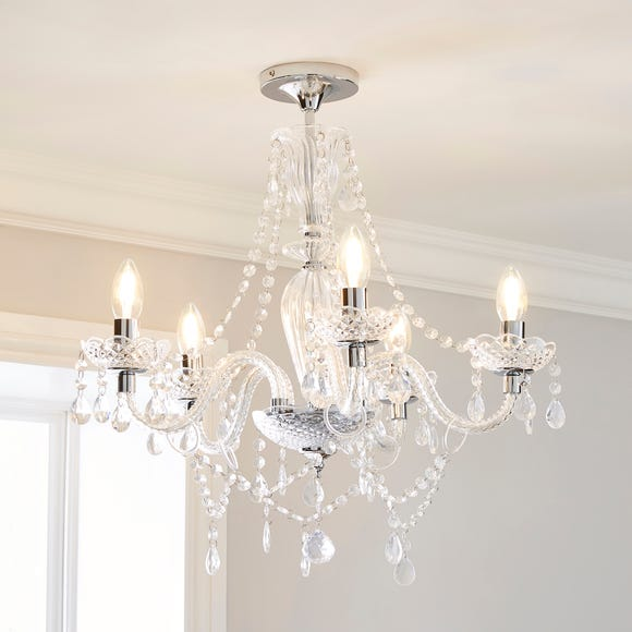 Bryony 5 Light Chandelier Clear Silver