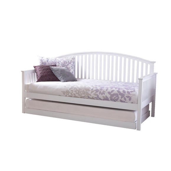 Madrid White Wooden Day Bed with Trundle White undefined
