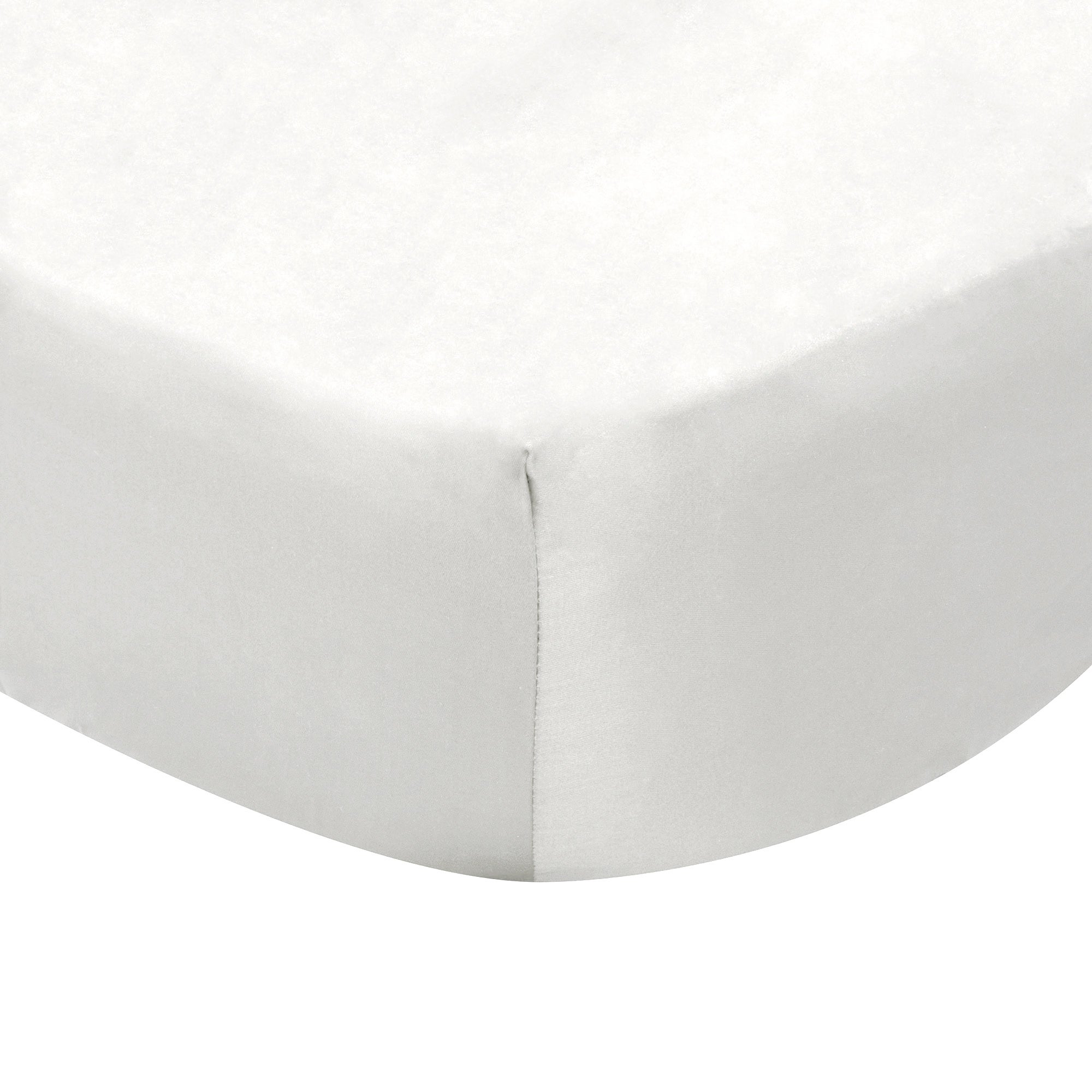 Photo of Dorma 300 thread count 100 cotton percale plain fitted sheet white