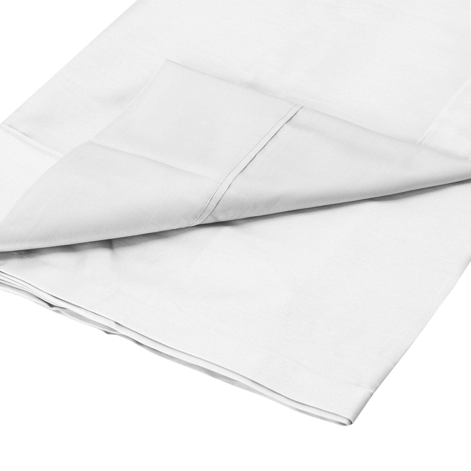 Photo of Dorma 300 thread count 100 cotton percale plain flat sheet white