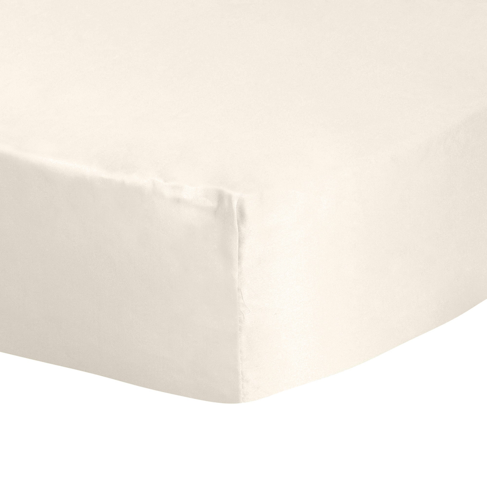 Photo of Dorma 300 thread count 100 cotton percale plain fitted sheet cream -natural-