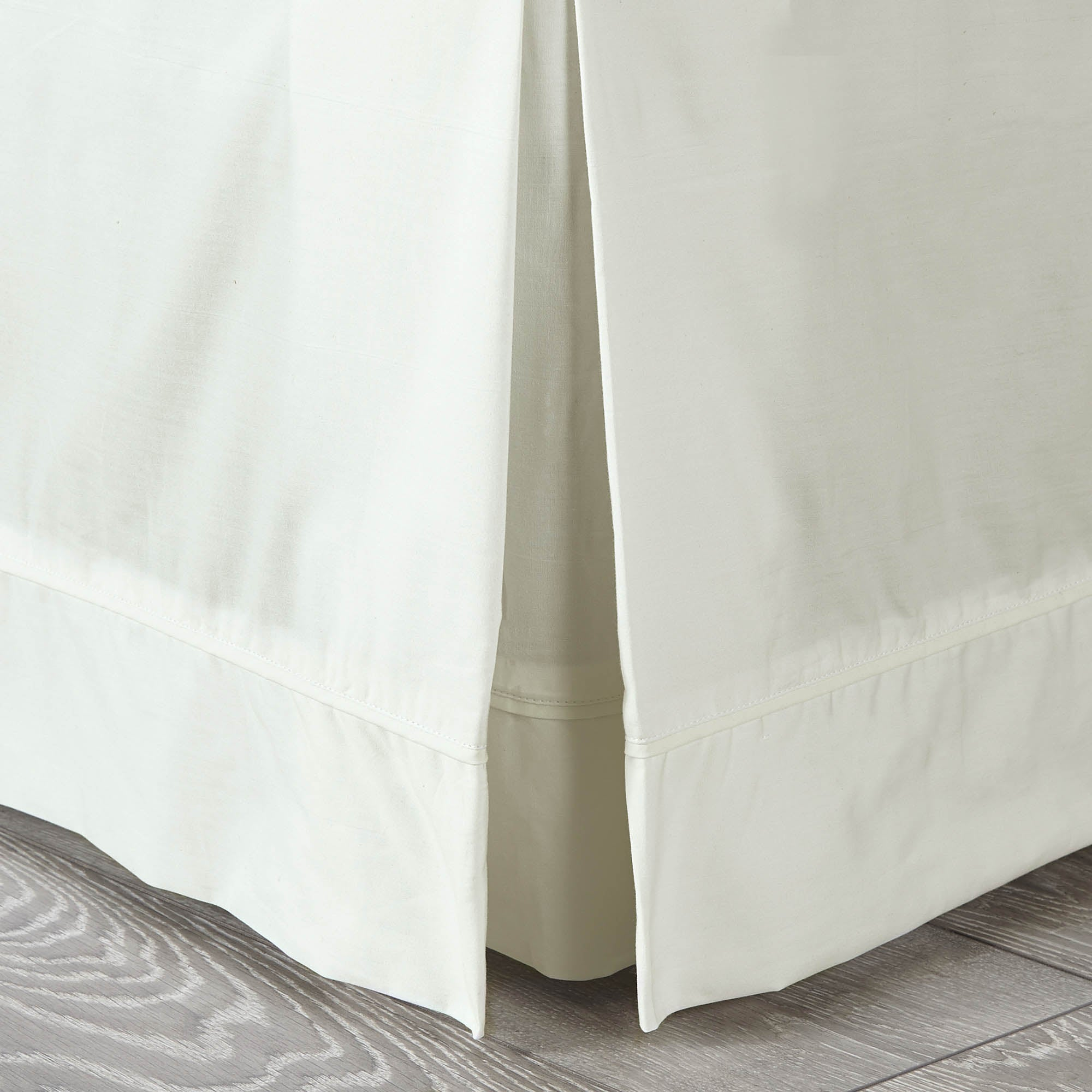 Photo of Dorma 300 thread count 100 cotton percale plain white valance cream -natural-