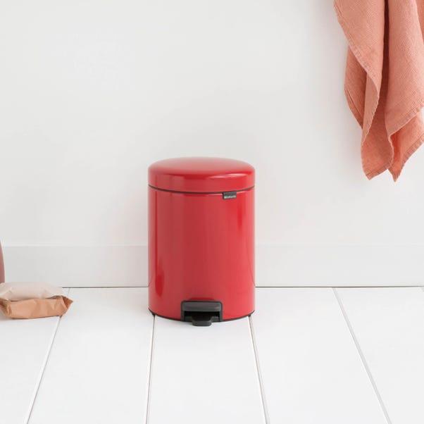 Brabantia NewIcon 5 Litre Red Pedal Bin