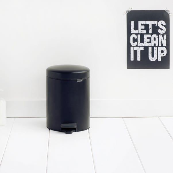 Brabantia NewIcon 5 Litre Black Pedal Bin