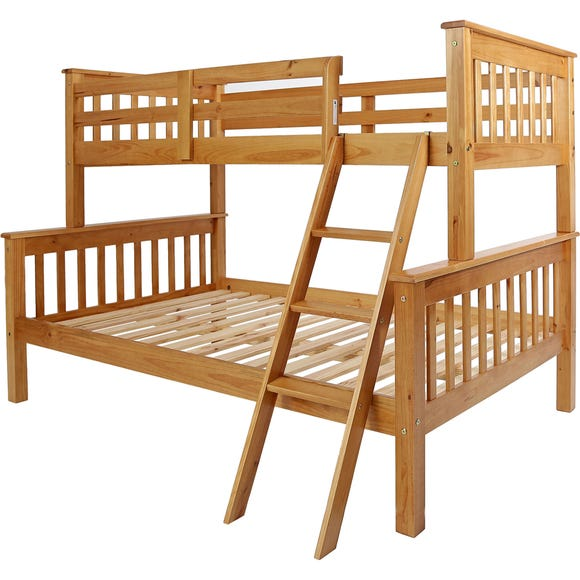 Neptune Pine Triple Sleeper Bunk Bed Brown undefined