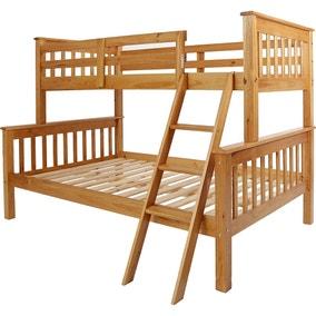Neptune Pine Triple Sleeper Bunk Bed