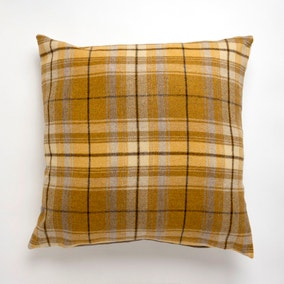Large Tweed Ochre Cushion