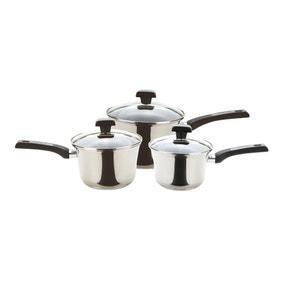 Prestige Dura Steel 3 Piece Saucepan Set