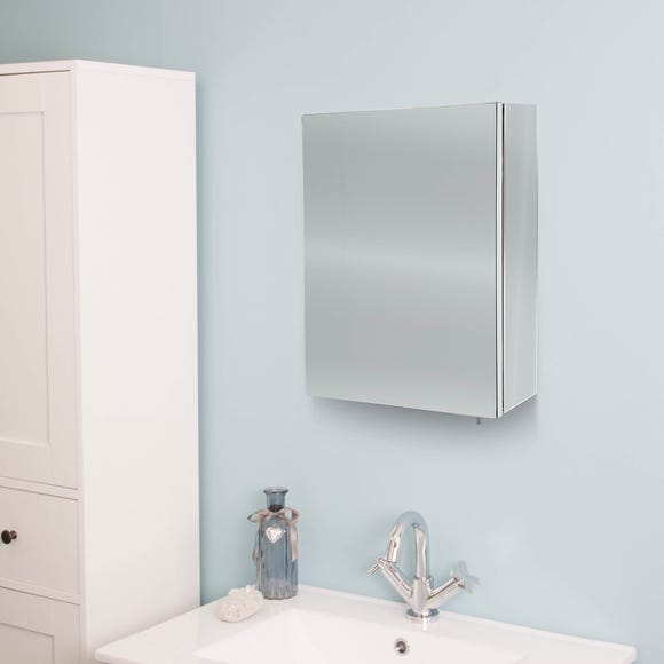 Avon Mirrored Cabinet Stainless Steel