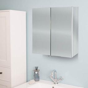 Avon Mirrored Double Cabinet