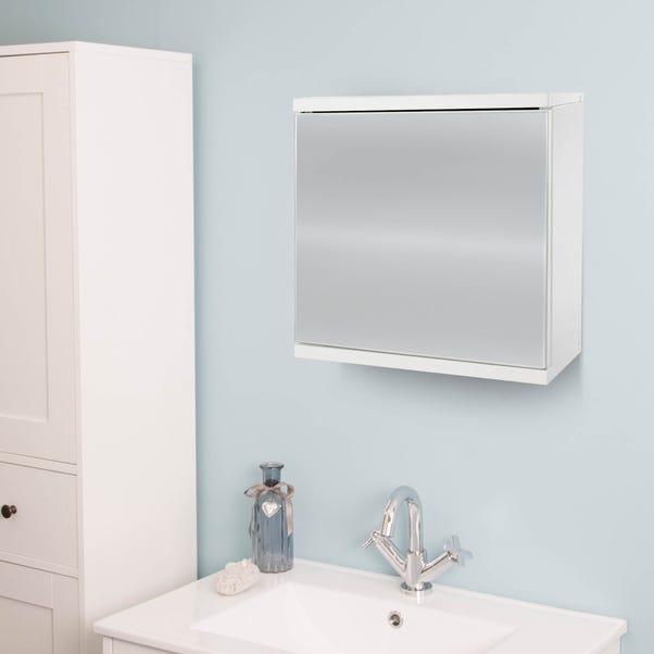 Simplicity Mirrored Cabinet White