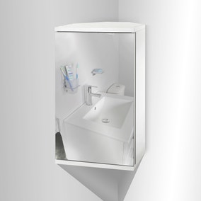 Simplicity Mirrored Corner Cabinet