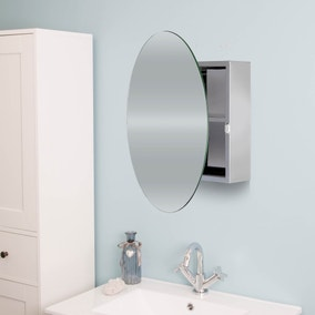 Severn Circular Mirror Door Cabinet