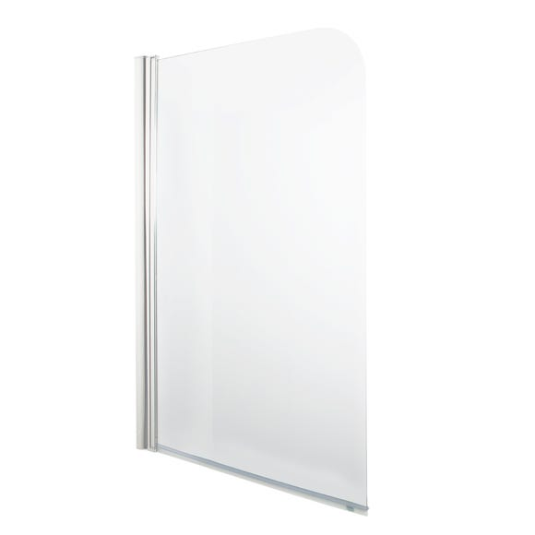Radius Glass Bath Screen Clear