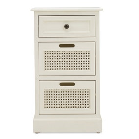 Lucy Cane Cream Bedside Table