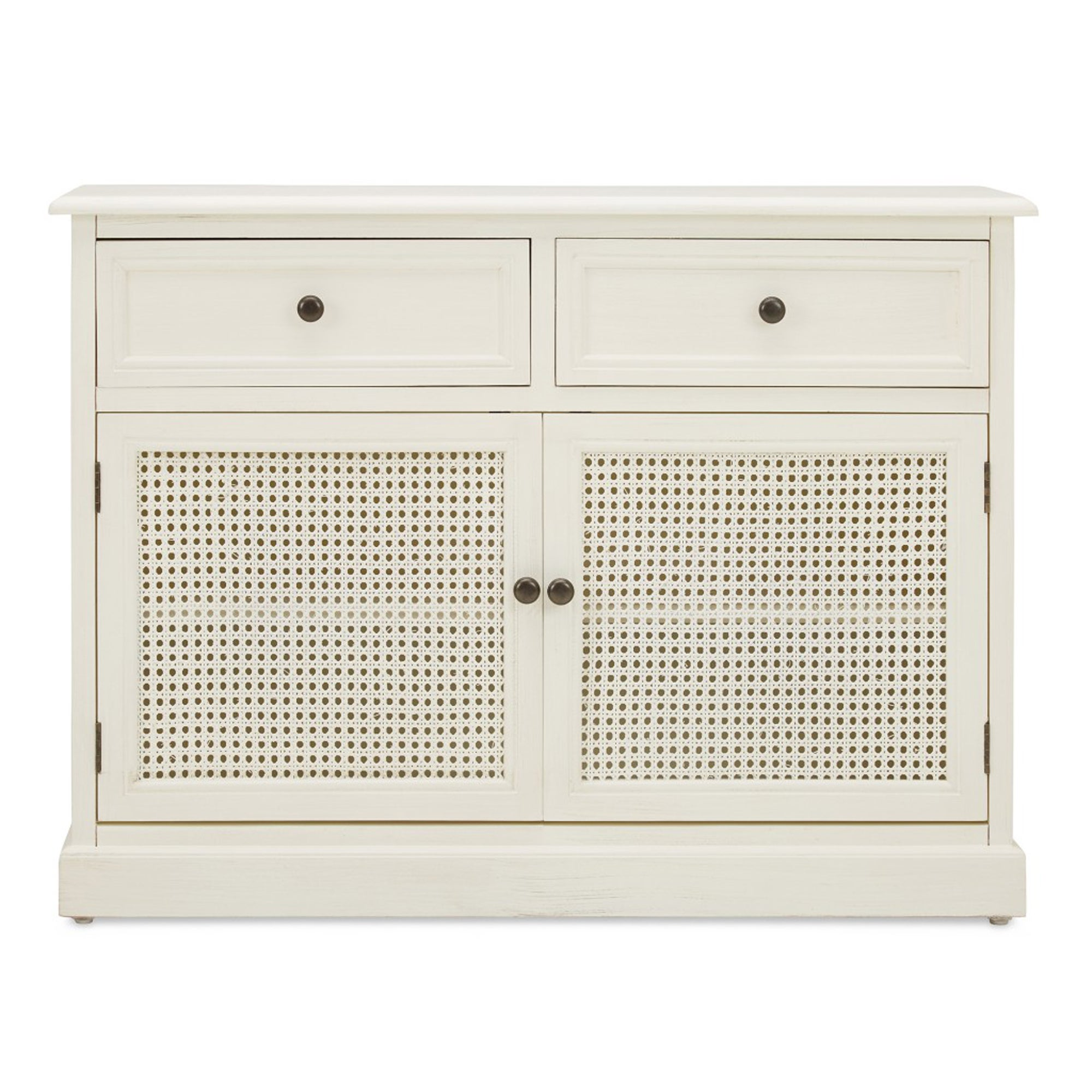 Lucy Cane Cream Small Sideboard Natural (White)