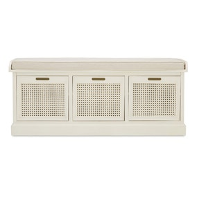Lucy Cane Cream Storage Bench