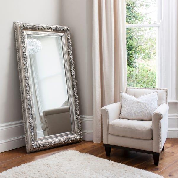 Antwerp Silver 180x93cm Wall Mirror Silver