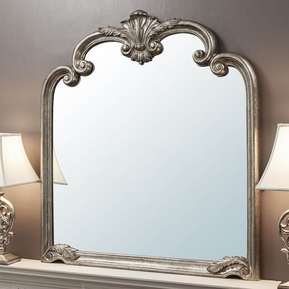 Palazzo 115x104cm Over Mantle Mirror Silver