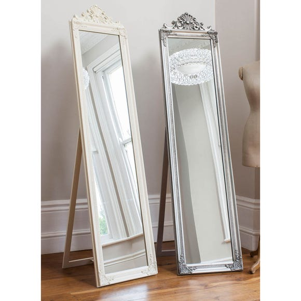 Lambeth White 179x46cm Cheval Mirror White
