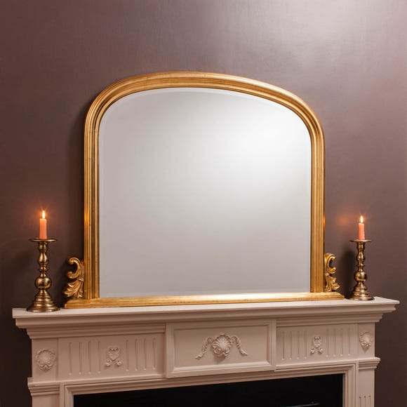 Thornby Gold 94x118cm Over Mantle Mirror Gold