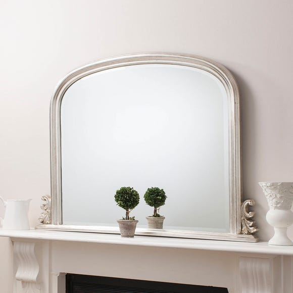 Thornby Silver 94x118cm Over Mantle Mirror Silver