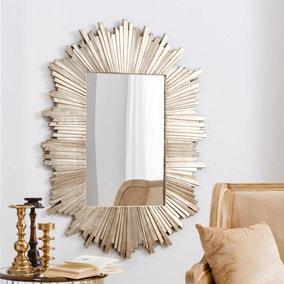 Herzfeld Gold Wall Mirror