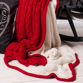 Glencoe Red Throw