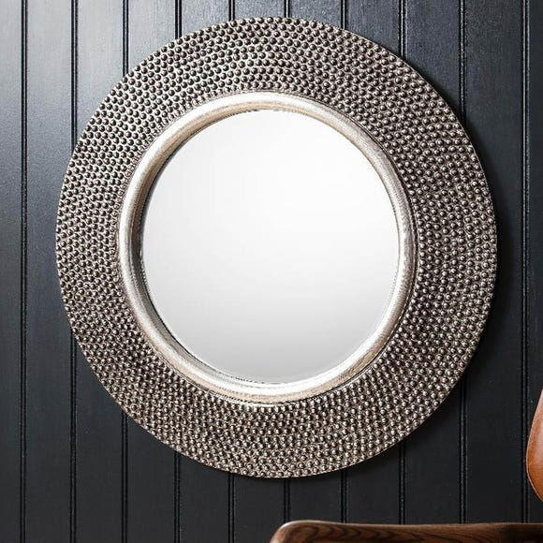 Whittington Pewter 80cm Wall Mirror Silver