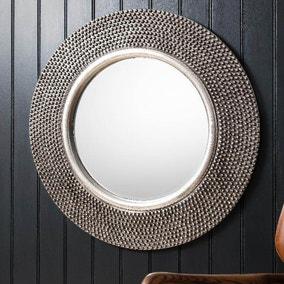 Whittington Pewter 80cm Wall Mirror