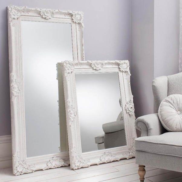 Stretton Cream 177x88cm Leaner Mirror White