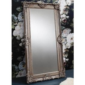 Stretton Antiqued Silver 177x88cm Leaner Mirror