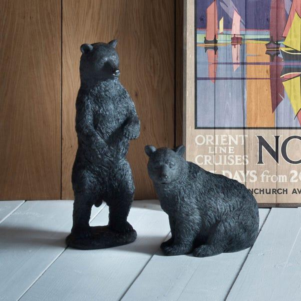Orion Black Standing Bear Ornament Black
