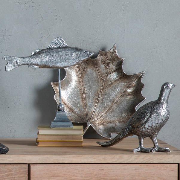 Barbary Pheasant Ornament Silver