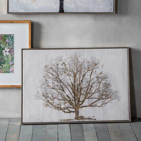 Golden Oak Framed Print Brown