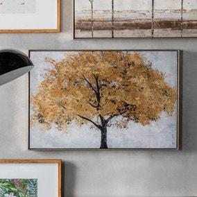 Midas Tree Framed Canvas Print