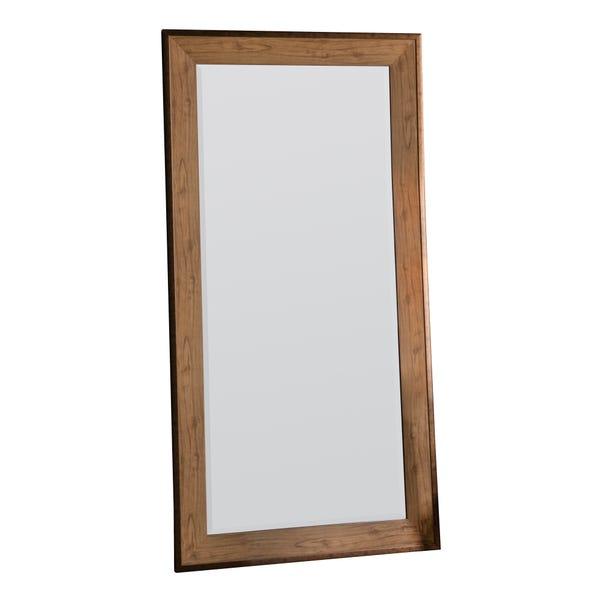 Barrington Oak 156x80cm Leaner Mirror Brown