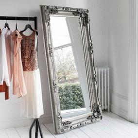Louis Silver 176x90cm Leaner Mirror
