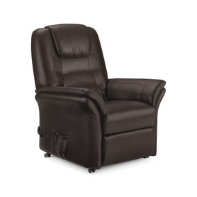 Riva Riser Recliner Leather Armchair - Brown