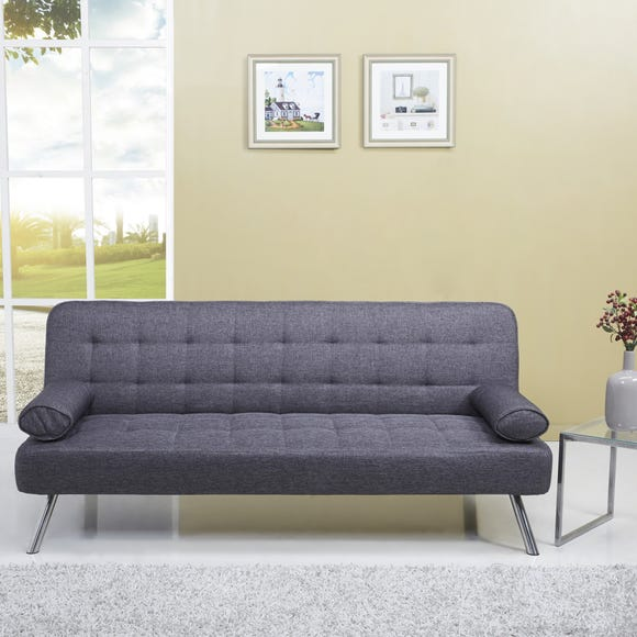 Tobi Fabric Sofa Bed Dark Grey