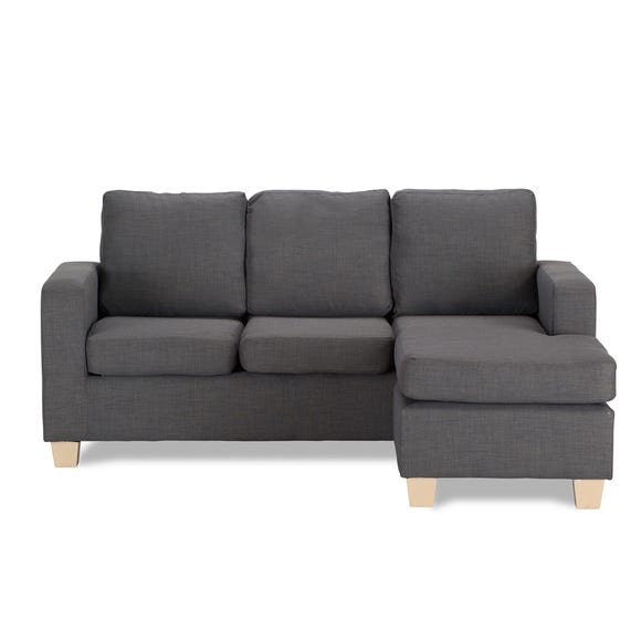 Dani Compact Fabric Corner Chaise Sofa Grey