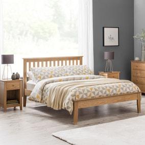 Salerno Oak Wooden Bed Frame