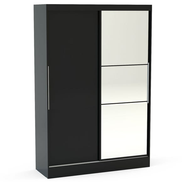Lynx Black Sliding Wardrobe