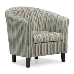 Dorset Stripe Tub Chair - Teal