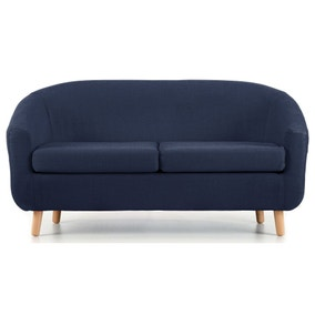 Turin 2 Seater Tub Chair - Blue