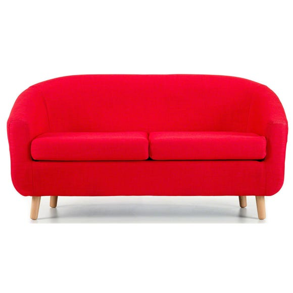 Turin 2 Seater Tub Chair - Red Red