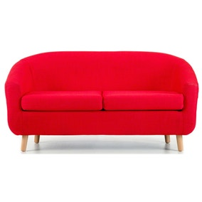 Turin 2 Seater Tub Chair - Red