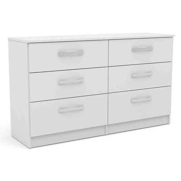 Lynx White 6 Drawer Chest