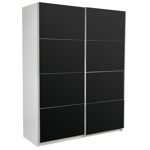 Ellum Black Sliding Wardrobe Black