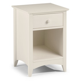 Cameo Stone White Bedside Table